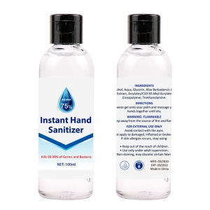 100ml 75% Alcohol Gel  Hand Sanitizer Alcohol Hand Sanitizer Gel Antibacterial  CE