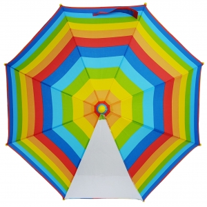 19Inch Color Full Start Print Customized Design Kids Umbrella With POE Panel