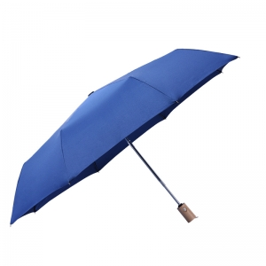 2020 Hot sale high quality custom pongee fabric 3fold umbrella promotional rain umbrella blue