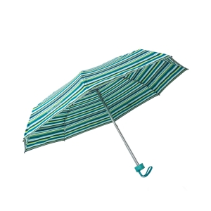 21inch*8k fold super mini green stripe light frame rainproof umbrella