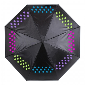 3Fold Magic Color Change Auto Open And Closed High Quality Fold Umbrella