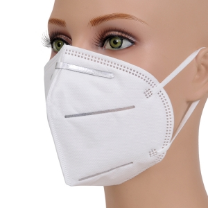 Anti virus white nonwoven recyclable kn95 face mask with CE certification