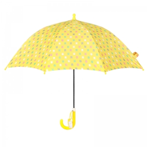 Cartoon kids yellow print hotsale rainproof wholesales umbrella