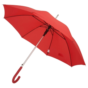China Factory Custom New Model 105CM 8Ribs Auto Open Straight Umbrella with Matched Color Handle