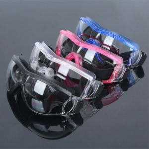 Common protective safety glasses eyewear clear anti-fog lenses no-slip medical protective goggles