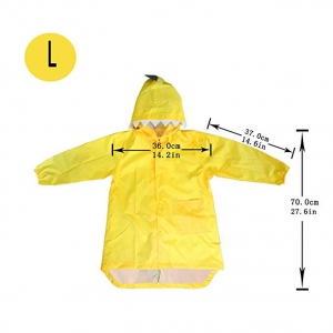 Custom dinosaur design waterproof EVA yellow rain poncho coat for kids