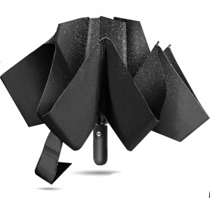 Customized 23Inch 8Ribs Automatic Open and Close  3 Folds Reverse Umbrella