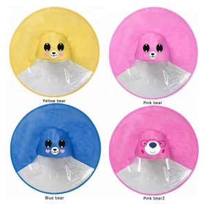 Cute Owl Cow Dinosaur Bear Frog Animal cartoon UFO Umbrella Raincoat Hat Cloak Rain coat