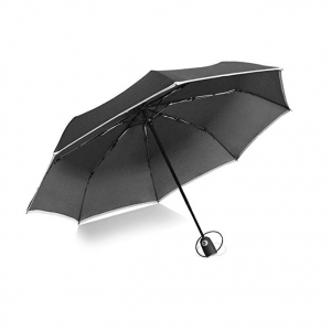 Good Quality OEM Windproof Travel Umbrella Auto Open & Close 3 folding umbrella with reflective strap
