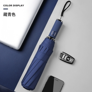 High quality Custom auto open 3 folding umbrella with logo print for promotion OEM