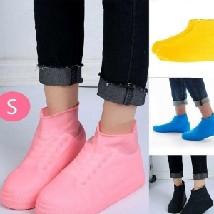 High quality  PVC  Outdoor rainy waterproof shoes cover rain anti-slip thick wear-resistant silicone adult children rain boots