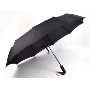 High quality custom pongee fabric 3fold umbrella promotional rain umbrella