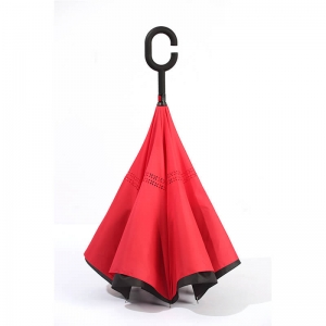 Inverted car promotion advertisement double layer umbrella