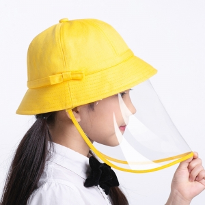 Kids protective hat face shield mask