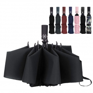LotusUmbrella Fast Ship WINDPROOF Auto Open Close Folding Compact Reverse Umbrella