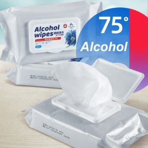New Arrival 50pcs/Bag 75% Alcohol Wipes Disinfection Alcoholic Wet Wipes
