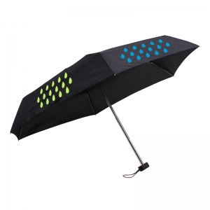 Promotional Items Color Change When Wet Lightweight Frame Manual 3 Fold Magic Umbrella