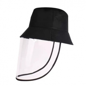 Removable face shield hat mask protection