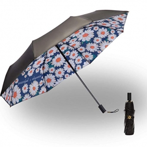 Automatic Open Waterproof Sunscreen Oversized Fully Automatic Windproof and UV Protection Umbrella,Golf Umbrella Windproof Color : B