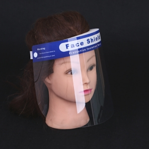 Stock PVC transparent protection face shield mask
