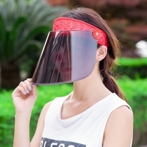 Sunscreen face shield mask