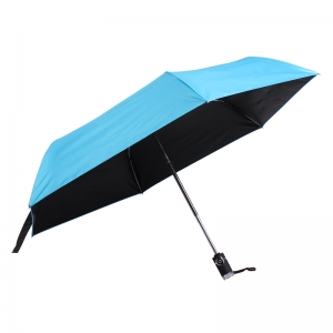 Top Quality Small190T Pongee Fabric UV Protection Easy Auto Open and Close Foldable Promotional Umbrellas