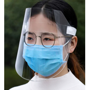 Transparent adjustable disposable anti dust face mask shield