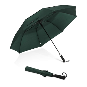 Wholesale Auto Open Strong Windproof Wind Resistant 2 Fold Vented Umbrella