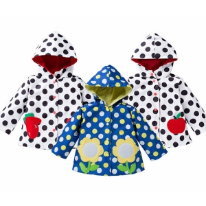 Wholesale Foreign trade factory girls lovely flower hooded raincoat rain slope female treasure windbreaker raincoat
