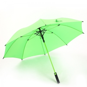 Wholesale Straight auto umbrella Logo Printed 8rib windproof straight umbrella green