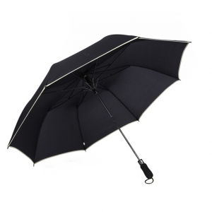 Wholesale auto open 2 fold umbrella with logo print golf umbrella