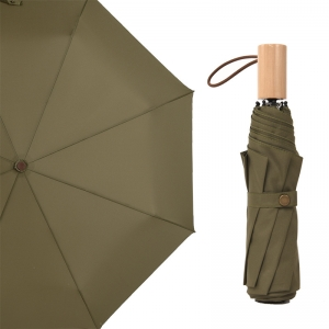 Wholesale custom pongee fabric 3fold umbrella promotional rain umbrella