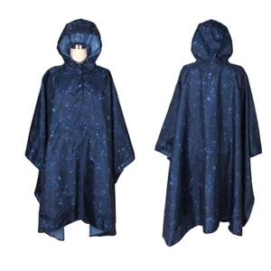 Wholesale high quality new fashion Waterproof Outdoor Fashion Printing Full Body Light Raincoats Star printing Colorful Poncho