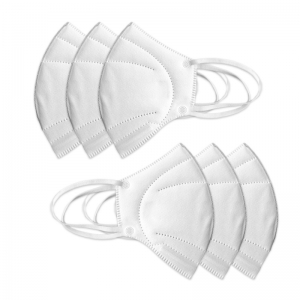 anti virus white nonwoven disposable kn95 mask with CE