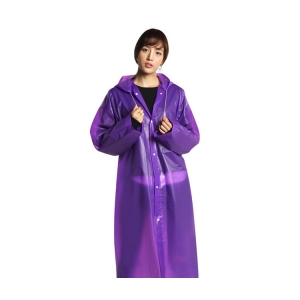 wholesale Rain Coat Non-disposable purple raincoat EVA fashionable environmental protection raincoat travel outdoor lightweight