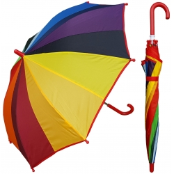 China 15 inch rainbow color plastic handle promotional children shade umbrella factory