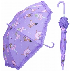 China 19-inch color printing creates an umbrella for children with Eadge flowers. factory