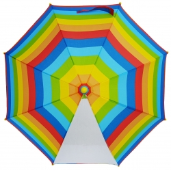 China 19Inch Color Full Start Print Customized Design Kids Umbrella With POE Panel factory
