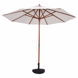 China 9ft Adjustable Wooden Garden Umbrella factory
