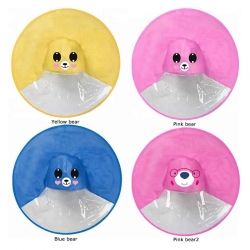 China Cute Owl Cow Dinosaur Bear Frog Animal cartoon UFO Umbrella Raincoat Hat Cloak Rain coat-Fabrik