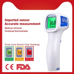 China Digital handheld electronic high precision non-contact forehead infrared thermometer factory