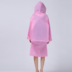 China Fashion EVA Men And Women Poncho Jacket With Hood Ladies Waterproof Long Translucent Raincoat Adults Outdoor pink  Rain Coat-Fabrik
