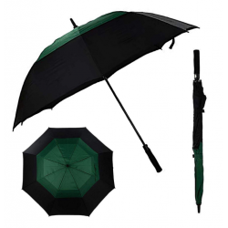 China Good item for advertising durable windproof double caonopy easy open golf umbrella factory