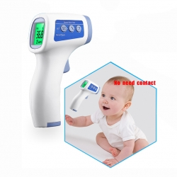 China Healthy medical manufacturer digital fever baby body forehead infrared non contact thermometer factory