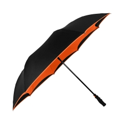 China Hot sales automatic open reverse umbrella 2 layers fabric windproof reversed umbrella for car factory