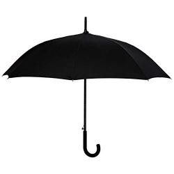 China LotusUmbrella Auto Open 100% Polyester Straight Umbrella with Rubber Coated Plastic Handle factory