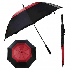 China LotusUmbrella Big size double layer straight golf umbrella with logo printing factory