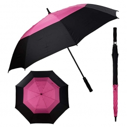 China LotusUmbrella high quality large size for 2 person golf umbrella with double canopy factory