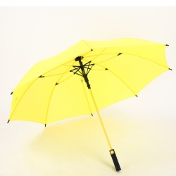 China Wholesale Straight auto umbrella Logo Printed 8rib windproof straight umbrella yellow factory