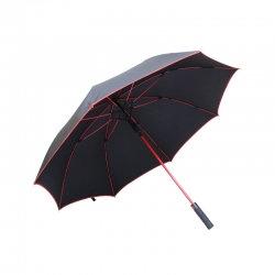 China vent golf umbrella with logo prints factory